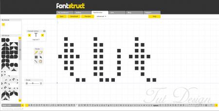 Создание шрифта с FontStruct