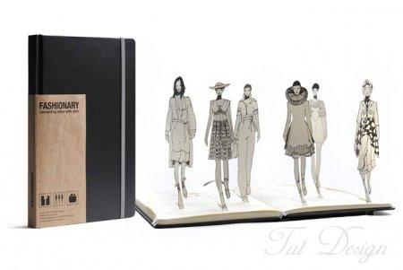 Профессиональный блокнот дизайнера одежды