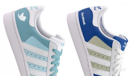 Кросcовки Adidas Superstars: Facebook и Twitter