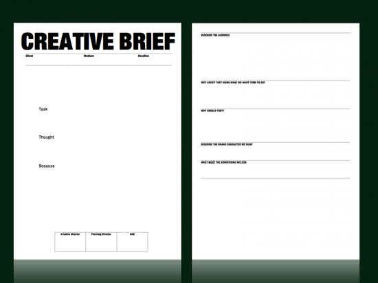 Logo design creative brief template