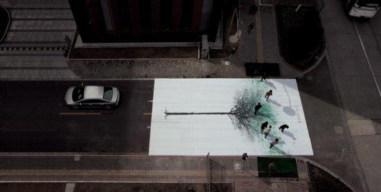 Пешеходы «пролили цвет» на экологическую ситуацию