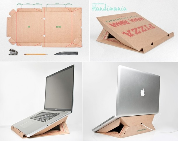 Подставка из картона для ноутбука
