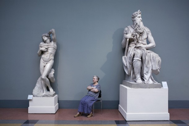 Michaelangelo's Moses and The Dying Slave, Pushkin Museum